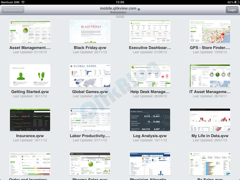 Configurando e utilizando o Qlikview Offline no iPad
